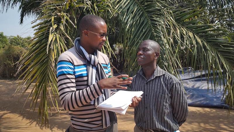 Rabson Zimba interviews course participants.