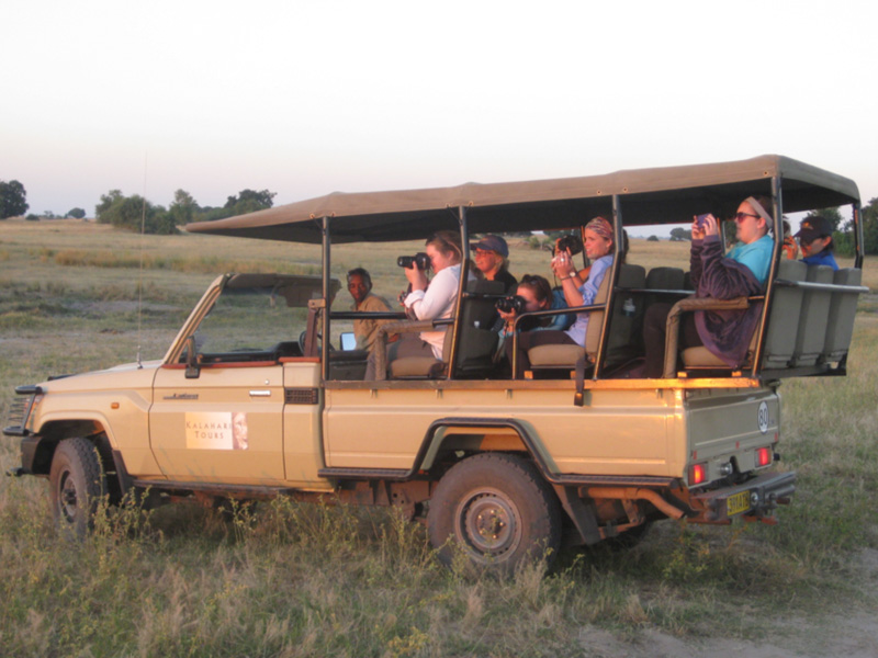 MSU students on safari in Chobe National Park.