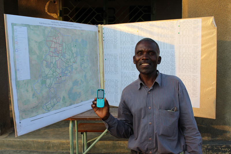 Juvensio Banda, chairperson of the Village Land Committee (VLC) in Kalichero, Eastern Province.