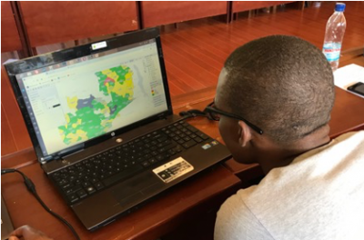 Akros Data Use Officers train government program officers to access and use HMIS data